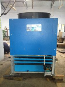 Adiabatic air cooled heat exchanger